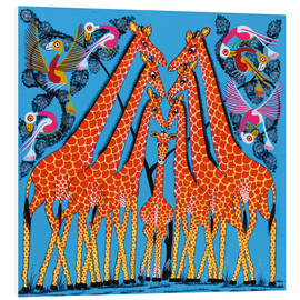 Tableau en PVC  Dance of the Giraffe - Mrope
