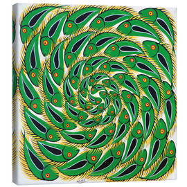 Tableau sur toile  Green Swirl Fish - Mrope