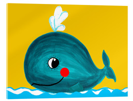 Verre acrylique  Frida, the friendly whale - Little Miss Arty