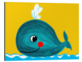 Alu-Dibond  Frida, the friendly whale - Little Miss Arty