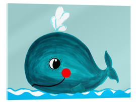 Verre acrylique  Willow, la petite baleine - Little Miss Arty