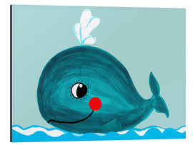 Alu-Dibond  Willow, la petite baleine - Little Miss Arty