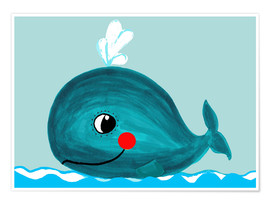 Poster  Willow, la petite baleine - Little Miss Arty