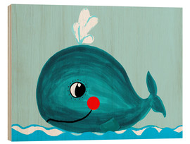 Bois  Willow, la petite baleine - Little Miss Arty
