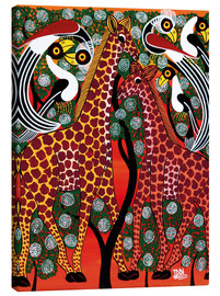 Tableau sur toile  Giraffe couple on the tree - Iddi