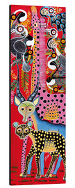 Tableau en aluminium  Variety of animals from Africa - Lewis