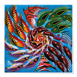 Poster  Colorful fish vertebrae - Mrope