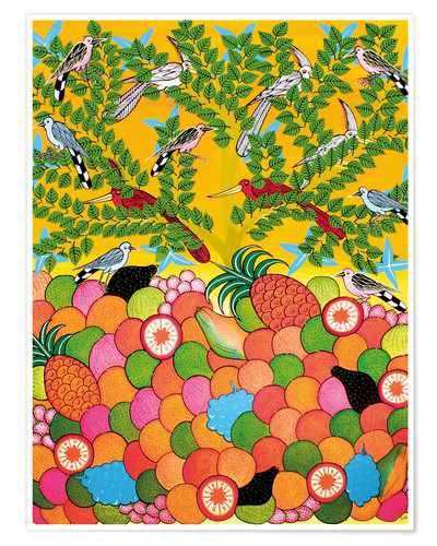 Poster Fruits and birds