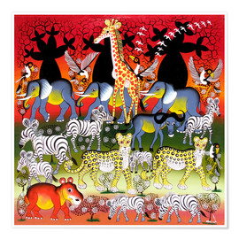 Poster Polonaise of animals