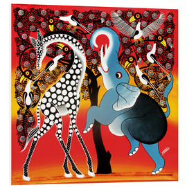 Tableau en PVC  Elephant dancing with Giraffe - Mangula