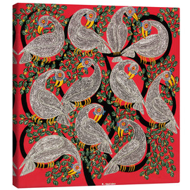 Tableau sur toile  Vultures in the tree crown - Hassani