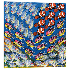 Tableau en PVC  Fish in the triangle - Majidu