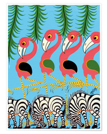 Poster  The Dance of the Flamingos - Maulana
