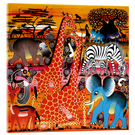 Tableau en verre acrylique  Africa at sunset - Mrope