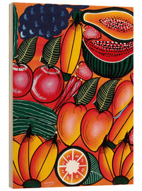 Tableau en bois  Exotic Fruits All kinds of - Chilambo