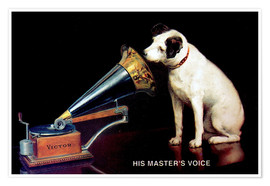 Poster  Victor Grammophon   His master's voice
