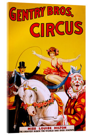 Tableau en verre acrylique  Gentry Bros  Circus - Advertising Collection