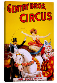 Tableau sur toile  Gentry Bros  Circus - Advertising Collection