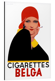 Tableau en aluminium  Cigarettes Belga - Advertising Collection
