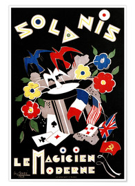 Poster Geo Conde Solanis, the modern magician