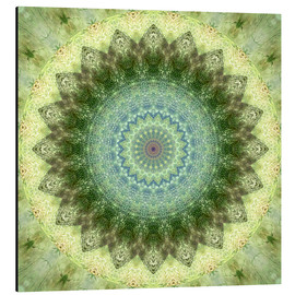 Christine Bässler - Mandala yellow green