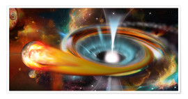 Poster  Black hole with Pulsar, universe, galaxy - Kalle60