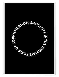 Poster  Simplicity is the ultimate form of sophistication (De Vinci) - THE USUAL DESIGNERS