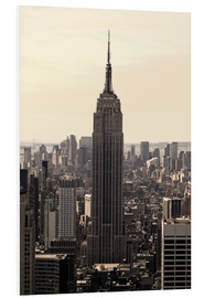 Tableau en PVC  Empire State Building vintage - Buellom