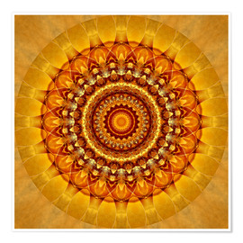 Poster  Mandala bright yellow - Christine Bässler