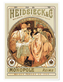 Poster  Champagne Heidsieck - Alfons Mucha
