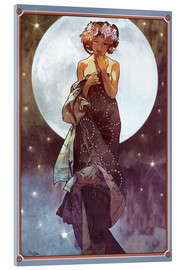 Verre acrylique  The full moon, adaptation - Alfons Mucha