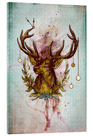 Verre acrylique  Oh Deer, is that the time? - Sybille Sterk