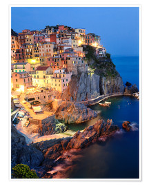 Poster  Manarola in the evening - Matteo Colombo