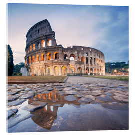 Tableau en verre acrylique  Colosseum reflected into water - Matteo Colombo