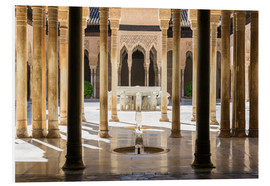 Tableau en PVC  Court of the Lions, Alhambra palace, Granada, Spain - Matteo Colombo