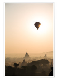 Poster  Sunrise with balloon, Bagan - Matteo Colombo