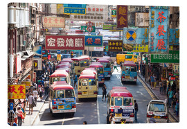 Tableau sur toile  Crowded street in Mong Kok, Hong Kong - Matteo Colombo