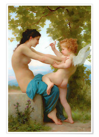 Poster  A young girl defending herself against Eros - William Adolphe Bouguereau