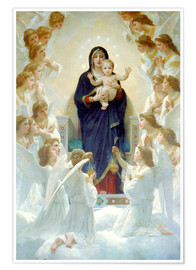 Poster  La Vierge aux anges - William Adolphe Bouguereau
