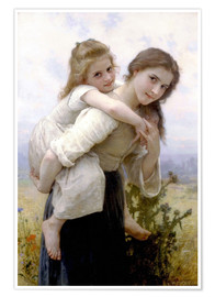 Poster  Not hard to bear - William Adolphe Bouguereau