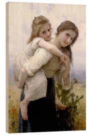 Tableau en bois  Not hard to bear - William Adolphe Bouguereau