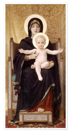 Poster  Vierge à l'Enfant - William Adolphe Bouguereau