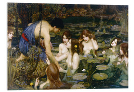Tableau en PVC  Nymphes - John William Waterhouse