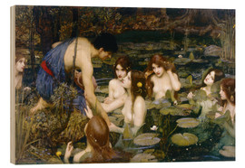 Tableau en bois  Nymphes - John William Waterhouse