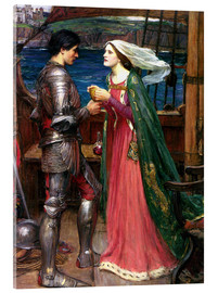 Tableau en verre acrylique  Tristan et Isolde - John William Waterhouse