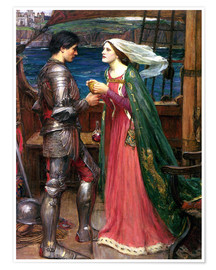 Poster  Tristan et Isolde - John William Waterhouse