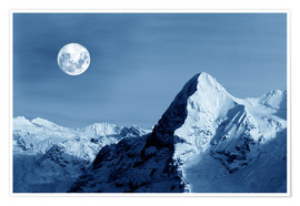 Poster Full moon on the Eiger