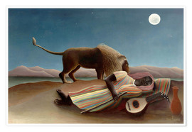 Poster  The Sleeping Gypsy - Henri Rousseau