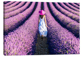 Toile  Girl in a lavender field - Matteo Colombo