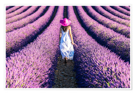 Poster Girl in a lavender field